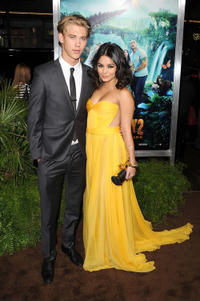 Austin Butler and Vanessa Hudgens at the California premiere of