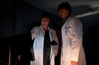 Jennifer Ehle as Dr. Ally Hextall and Demetri Martin as Dr. David Eisenberg in