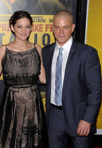 Marion Cotillard and Matt Damon at the New York premiere of