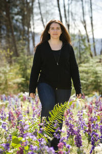 Author Stephenie Meyer on the set of