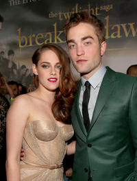 Kristen Stewart and Robert Pattinson at the California premiere of