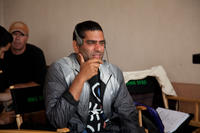 Director Nima Nourizadeh on the set of