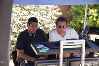 Director Nima Nourizadeh and producer Todd Phillips on the set of