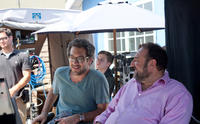 Producer Todd Phillips and executive producer Joel Silver on the set of