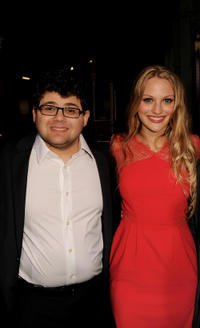 Jonathan Daniel Brown and Kirby Bliss Blanton at the California premiere of
