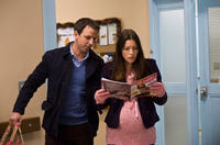 Seth Meyers as Griffin and Jessica Biel as Tess in