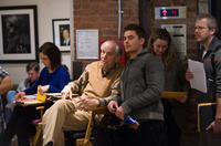 Director Garry Marshall and Zac Efron on the set of