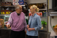 Director Garry Marshall and Katherine Heigl on the set of