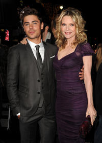 Zac Efron and Michelle Pfeiffer at the California premiere of