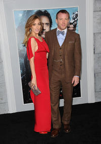 Jacqui Ainsley and director Guy Ritchie at the California premiere of