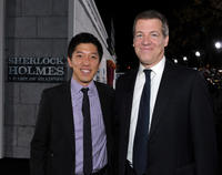 Producer Dan Lin and producer Lionel Wigram at the California premiere of