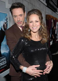 Robert Downey Jr. and producer Susan Downey at the California premiere of