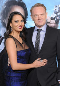 Allegra Riggio and Jared Harris at the California premiere of