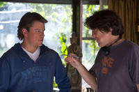 Matt Damon and director Cameron Crowe on the set of
