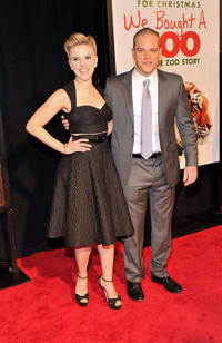 Scarlett Johansson and Matt Damon at the New York premiere of