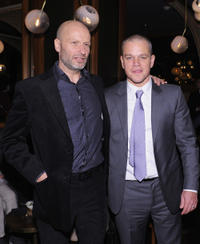 Benjamin Mee and Matt Damon at the after party of New York premiere of