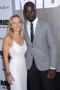 Mike Colter and Guest at the New York premiere of