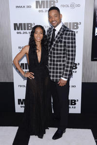 Jada Pinkett Smith and Will Smith at the New York premiere of