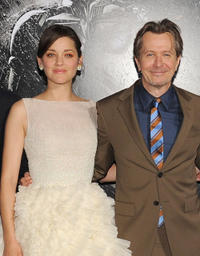 Marion Cotillard and Gary Oldman at the New York premiere of