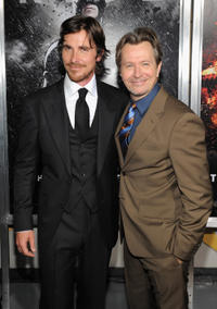 Christian Bale and Gary Oldman at the New York premiere of