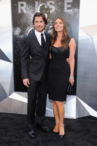 Christian Bale and Sibi Blazic at the New York premiere of