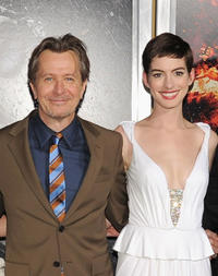 Gary Oldman and Anne Hathaway at the New York premiere of