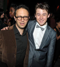 Director Jake Kasdan and Matthew J. Evans at the after party of the New York premiere of