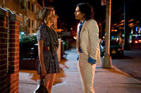 Greta Gerwig as Naomi and Russell Brand as Arthur in
