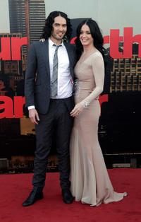 Russell Brand and Katy Perry at the London premiere of