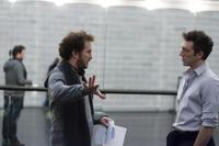 Director Darren Aronofsky and Vincent Cassel on the set of