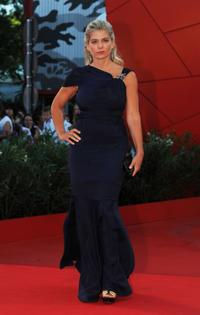 Director Angela Ismailos at the Italy premiere of