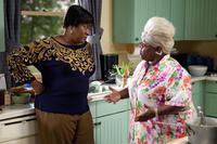 Loretta Devine as Shirley and Cassi Davis as Aunt Bam in