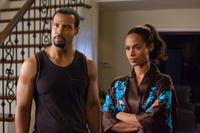 Isaiah Mustafa as Calvin and Shannon Kane as Kimberly in