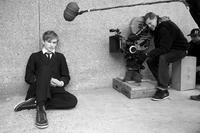 Henry Hopper and director Gus Van Sant on the set of