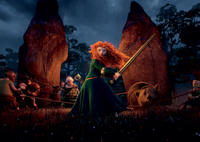 Merida voice by Kelly Macdonald in