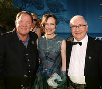 Chief Creation Officer of Pixar Animation Studios John Lasseter, singer Julie Fowlis and composer Patrick Doyle at the California premiere of