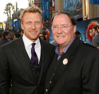 Kevin McKidd and Chief Creation Officer of Pixar Animation Studios John Lasseter at the California premiere of