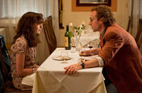 Anne Hathaway as Emma Morley and Rafe Spall as Ian in
