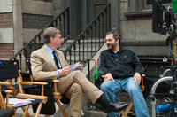 Director, executive producer Paul Feig and producer Judd Apatow on the set of
