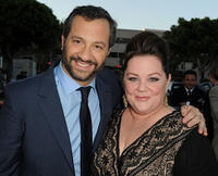 Producer Judd Apatow and Melissa McCarthy at the California premiere of