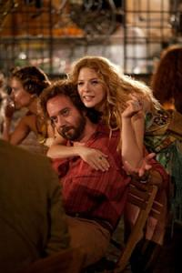 Paul Giamatti as Barney and Rachelle Lefevre as Clara in