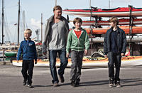 Toke Lars Bjarke as Morten, Mikael Persbrandt as Anton, Markus Rygaard as Elias and William Johnk Nielsen as Christian in