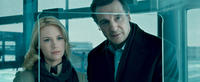 Anuary Jones as Elizabeth Harris and Liam Neeson as Dr. Martin Harris in