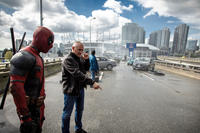 Ryan Reynolds and Director Tim Miller on the set of