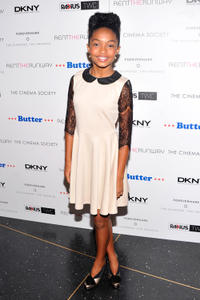 Yara Shahidi at the New York premiere of