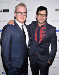 Director Jim Field Smith and Jason Micallef at the New York premiere of