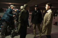 Michael Douglas, director Steven Soderbergh and Ewan McGregor on the set of