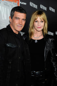 Anotnio Banderas and Melanie Griffith at the California premiere of