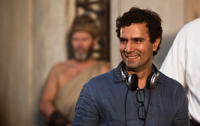 Director Tarsem Singh on the set of