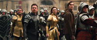 Ian McShane as King Brahmwell, Ewan McGregor as Elmont, Eleanor Tomlinson as Isabelle and Nicholas Hoult as Jack in